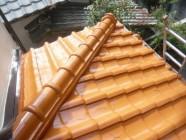 屋根塗装、防水工事後