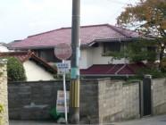 屋根塗装、しっくい工事後