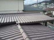 屋根(パラサーモ)塗装工事後前