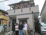外壁塗装工事、屋根塗装工事後
